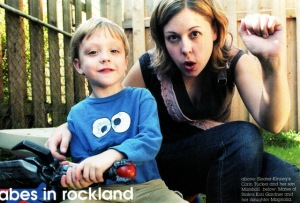 Corin Tucker with her son