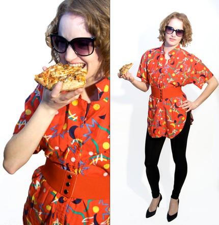 Amber modeling vintage for Lara's etsy shoppe!