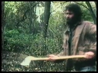 still from He Likes To Chop Down Trees