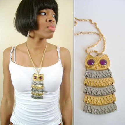 Vintage Owl Necklace from NstyleVintage (click on photo)