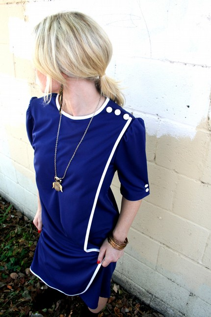 Kinda Mod Vintage Sailor Dress
