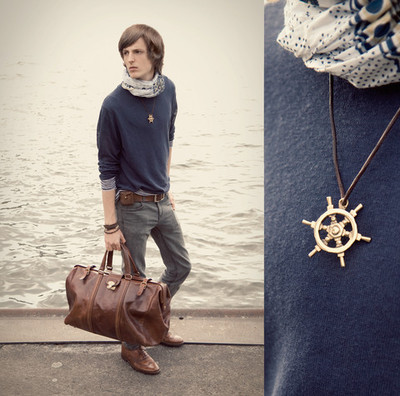 Ship's Wheel Necklace from lookbook.nu via Prim and Proper