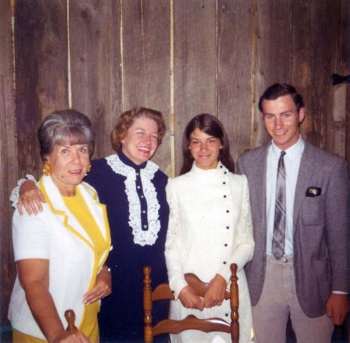 Mom & Dad with grandma Barb (second from left) and ?